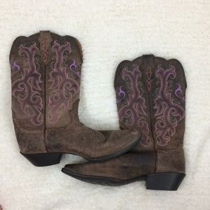 Justin Boots Shoes - Justin cowboy boots size 10B Brown